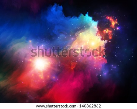 Dreamscape Series. Backdrop composed of colorful fractal paint and lights and suitable for use in the projects on art, abstraction and creativity - stock photo