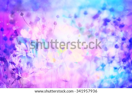 Dreamy beautiful background with meadow of flowers