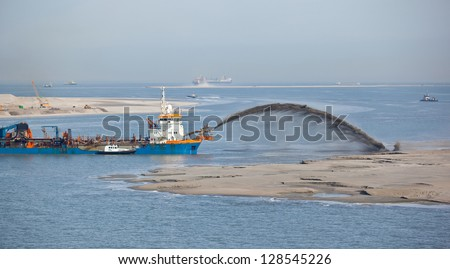Dredging for new port terminals