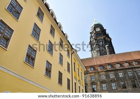 Dresden City Hall, Germany - stock photo