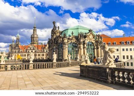 Dresden, famous Zwinger museum - stock photo