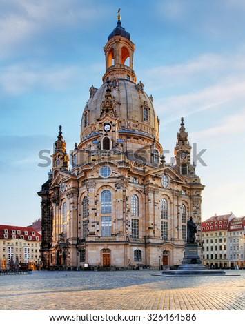 Dresden, Frauenkirche Church - Germany - stock photo