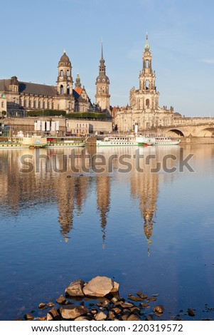 Dresden - Germany - Elbe - stock photo
