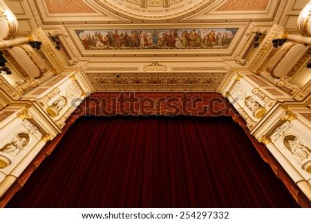 Dresden, Germany, January 04 2015: Scene of Dresden Opera House i - stock photo