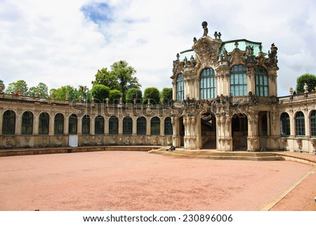 DRESDEN, GERMANY - JUNE, 26th, 2014: Zwinger palace famous landmark of Dresden during sunny day on 26th June 2014. - stock photo