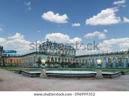 DRESDEN, GERMANY -  NOVEMBER 12, 2014: Zwinger Palace (Der Dresdner Zwinger) in Dresden, Germany   - stock photo