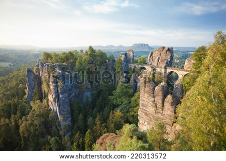 Dresden - Germany - Sandstone mountains - stock photo