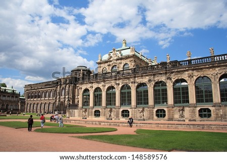 DRESDEN - MAY 4: Zwinger Palace, a royal palace since the 17th century, on May 4, 2006 in Dresden, Germany. Rebuilt after the second world war, the palace is now the most visited monument in Dresden.
