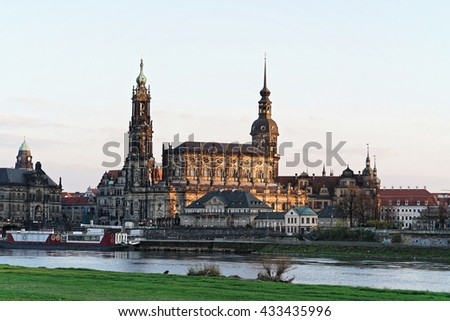 Dresden old town district (Germany) - stock photo