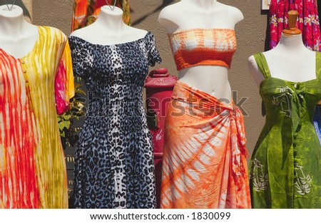 dress and dummys - stock photo