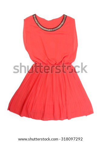 Dress for girls on the white background