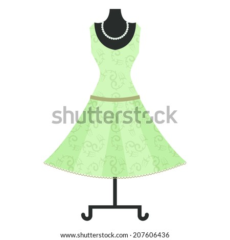 dress on a mannequin - stock photo