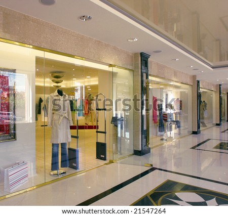 dress  store - stock photo