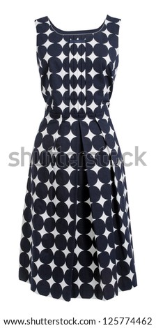 dress with polka dots - stock photo