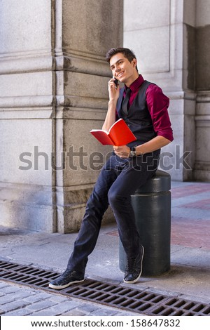 Dressing Red Shirt Black Vest Black Stock Photo 158645186 ...