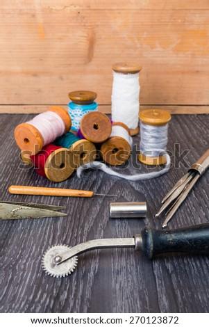 dressmaking - stock photo