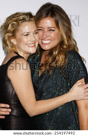 "Drew Barrymore and Nancy Juvonen at the Los Angeles Premiere of ""Whip It"" held at the Grauman's Chinese Theater in Hollywood, California, United States on September 29, 2009."