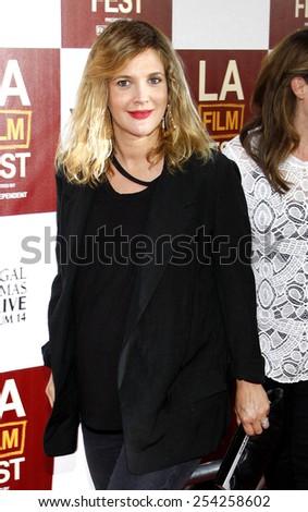 """Drew Barrymore at the 2012 Los Angeles Film Festival premiere of """"Seeking A Friend For The End Of The World"""" held at the Regal Cinemas L.A. LIVE Stadium 14 in Los Angeles on June 18, 2012.  - stock photo"""