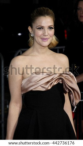 Drew Barrymore at the World premiere of 'He's Just Not That Into You' held at the Grauman's Chinese Theater in Hollywood, USA on February 2, 2009.  - stock photo