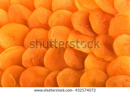 dried apricots background - stock photo