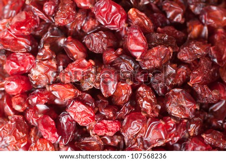 Dried barberry berries - stock photo