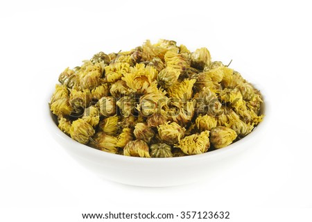 Dried chrysanthemum flowers - stock photo