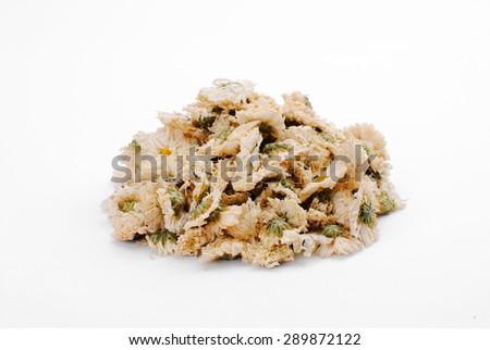 Dried Chrysanthemum on white background - stock photo