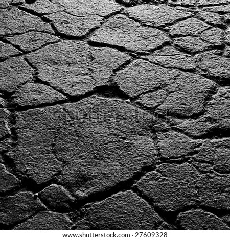 Dried cracked soil - stock photo
