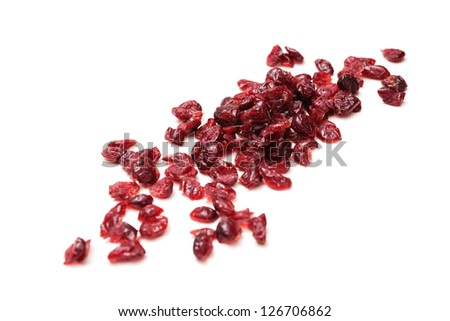 Dried cranberries - stock photo