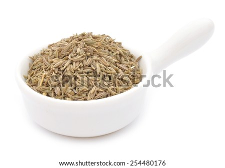 Dried Cumin on a white background