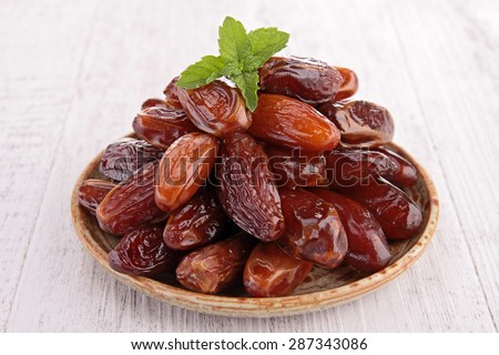 dried date - stock photo