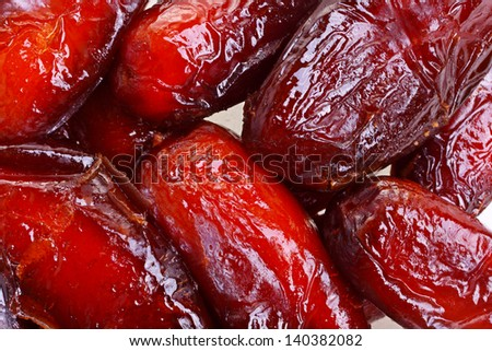 Dried date fruits background texture