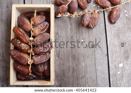 Dried date palm - stock photo