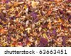 Dried Fall Leaves Background - stock photo