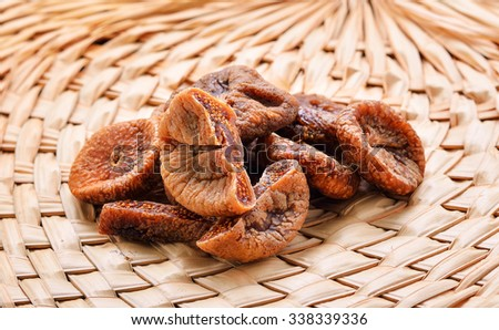 Dried Figs ,preserve  fruit - stock photo