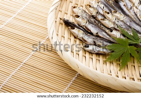 dried fish - stock photo