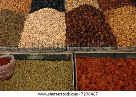 Dried fruit - stock photo