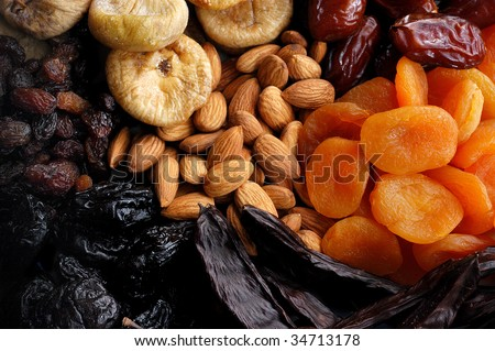 Dried Fruits Collection - stock photo