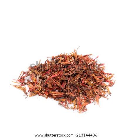 Dried Herbs,Safflower, False Saffron, Saffron Thistle,Carthamus tinctorius L., COMPOSITAE - stock photo