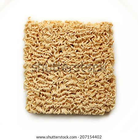 Dried  instant noodles.