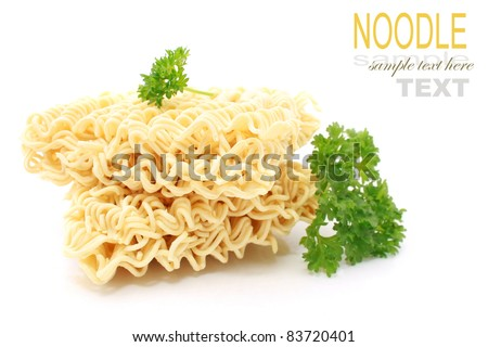 Dried Instant noodles - stock photo