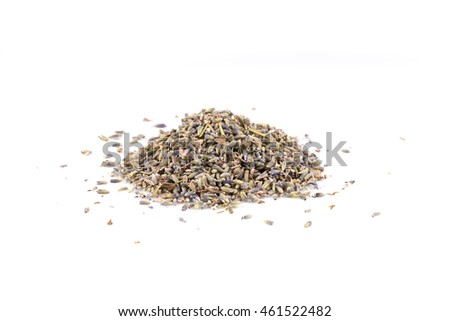 dried lavender organic tea Isolated on white background