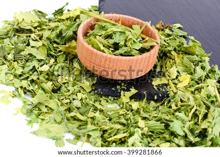 Dried Parsley Seasoning Studio Photo