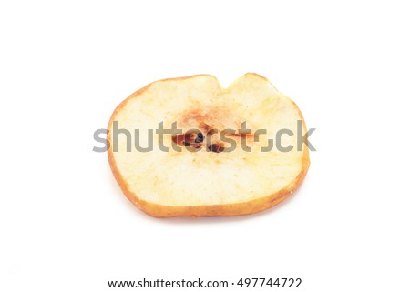 Dried pear on white background
