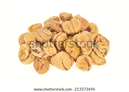 Dried Preserved Chestnuts   - stock photo