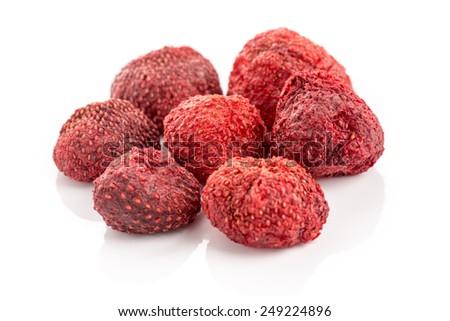Dried Strawberry - stock photo