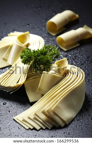 Dried Sweet Bean Curd Sheets  - stock photo