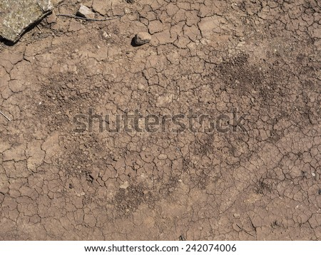 dried up cracked ground texture - stock photo
