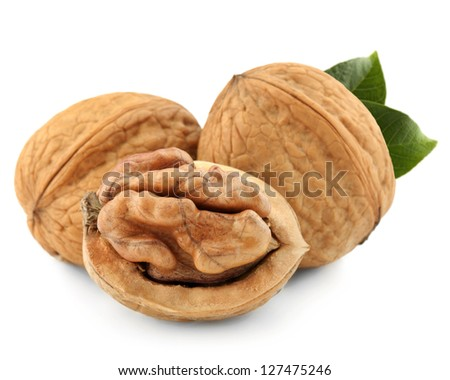 Dried walnut close up