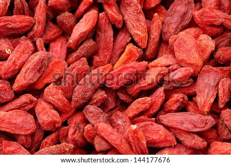 Dried wolfberry close up - stock photo
